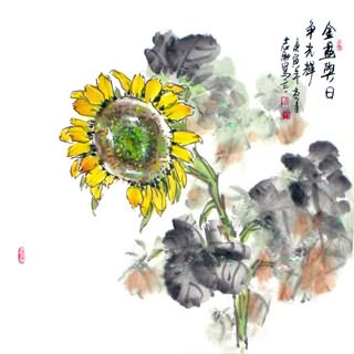 Chinese Other Flowers Painting,69cm x 69cm,2360057-x