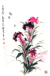 Chinese Other Flowers Painting,69cm x 46cm,2360059-x