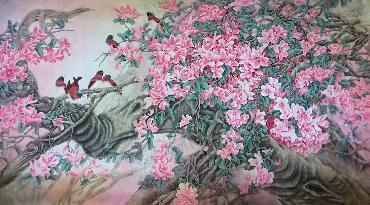 Chinese Other Flowers Painting,97cm x 180cm,2387086-x