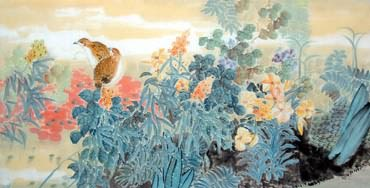 Chinese Other Flowers Painting,66cm x 136cm,2397008-x