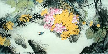 Chinese Other Flowers Painting,66cm x 136cm,2397009-x