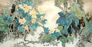 Chinese Other Flowers Painting,66cm x 136cm,2397012-x