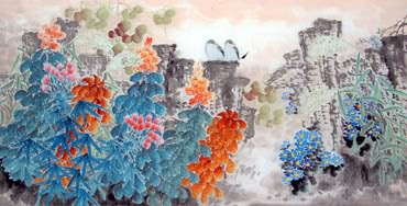 Chinese Other Flowers Painting,66cm x 136cm,2397013-x