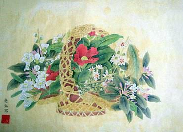 Chinese Other Flowers Painting,34cm x 46cm,2405011-x