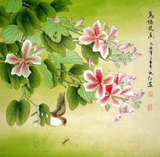 Chinese Other Flowers Painting,66cm x 66cm,2602004-x