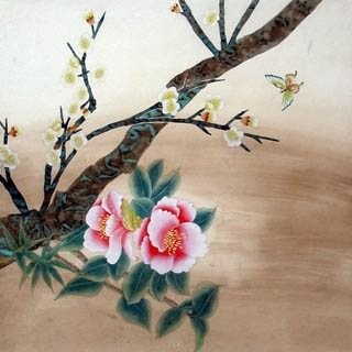 Chinese Other Flowers Painting,66cm x 66cm,2603002-x
