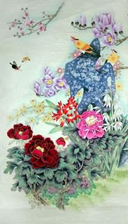 Chinese Other Flowers Painting,66cm x 136cm,2617019-x