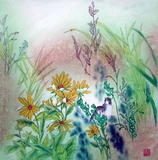 Chinese Other Flowers Painting,50cm x 50cm,2617020-x