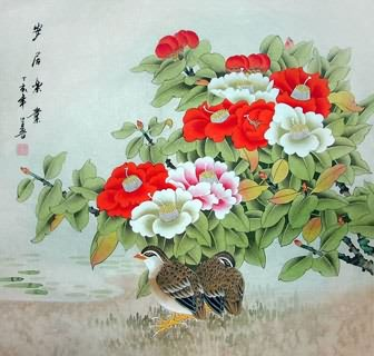 Chinese Other Flowers Painting,69cm x 69cm,2617023-x
