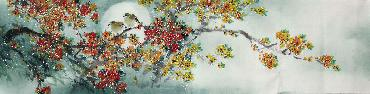 Chinese Other Flowers Painting,35cm x 136cm,jsc21077001-x