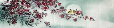 Chinese Other Flowers Painting,35cm x 136cm,jsc21077002-x