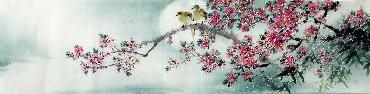 Chinese Other Flowers Painting,35cm x 136cm,jsc21077010-x