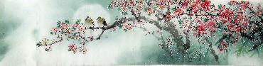 Chinese Other Flowers Painting,35cm x 136cm,jsc21077012-x