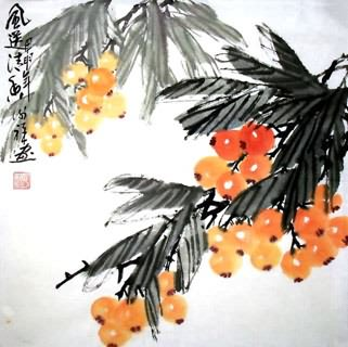 Chinese Other Fruits Painting,33cm x 33cm,2399013-x
