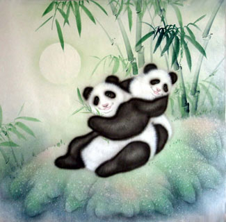 Chinese Panda Art Painting