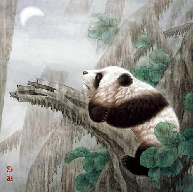 chinese panda painting 0 4734059  66cm x 66cm 26 u3003 x 26 u3003