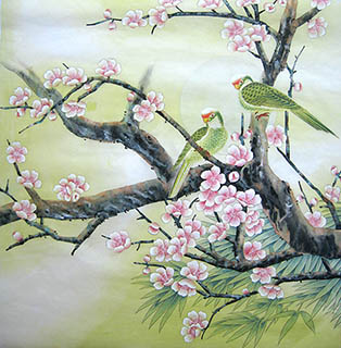 Chinese Peach Blossom Painting66cm X 66cm2011036