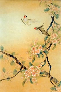 Chinese Peach Blossom Painting,69cm x 46cm,2319035-x