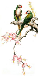 Chinese Peach Blossom Painting,66cm x 130cm,2340055-x