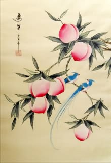 Chinese Peach Painting,40cm x 60cm,2336127-x