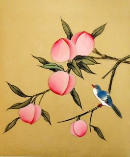 Chinese Peach Painting,19cm x 27cm,2336128-x