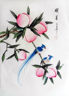 Chinese Peach Painting,30cm x 40cm,2336131-x