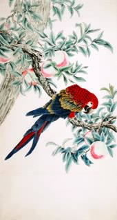 Chinese Peach Painting,92cm x 174cm,2340100-x