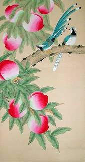 Chinese Peach Painting,55cm x 95cm,2391013-x