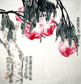 Chinese Peach Painting,69cm x 69cm,2399008-x