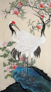 Chinese Peach Painting,70cm x 130cm,2426002-x