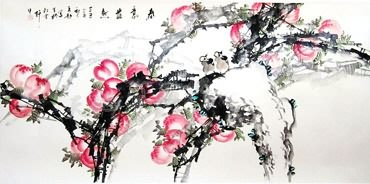Chinese Peach Painting,80cm x 160cm,2565001-x