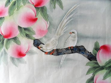 Chinese Peach Painting,66cm x 66cm,2609005-x