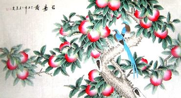 Chinese Peach Painting,92cm x 174cm,2703076-x