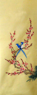 Chinese Plum Blossom Painting,42cm x 110cm,2336024-x