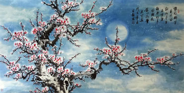 Chinese Plum Blossom Painting,66cm x 130cm,2339002-x