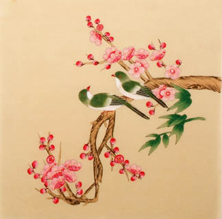 Chinese Plum Blossom Painting,38cm x 38cm,2340002-x