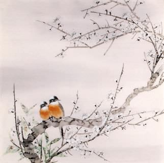 Chinese Plum Blossom Painting,66cm x 66cm,2340051-x