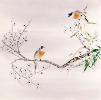 Chinese Plum Blossom Painting,66cm x 66cm,2340052-x