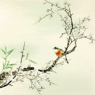 Chinese Plum Blossom Painting,66cm x 66cm,2340053-x