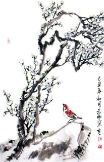 Chinese Plum Blossom Painting,69cm x 46cm,2360020-x