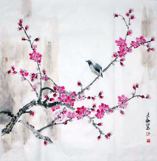Chinese Plum Blossom Painting,60cm x 65cm,2360021-x