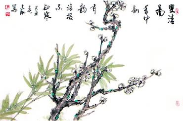 Chinese Plum Blossom Painting,69cm x 46cm,2360022-x