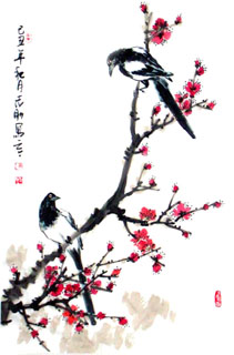 Chinese Plum Blossom Painting,69cm x 46cm,2360026-x
