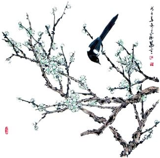 Chinese Plum Blossom Painting,69cm x 69cm,2360027-x