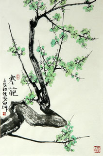 Chinese Plum Blossom Painting,69cm x 46cm,2388108-x