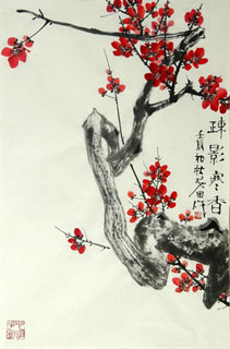 Chinese Plum Blossom Painting,69cm x 46cm,2388109-x