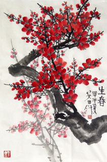 Chinese Plum Blossom Painting,69cm x 46cm,2388111-x