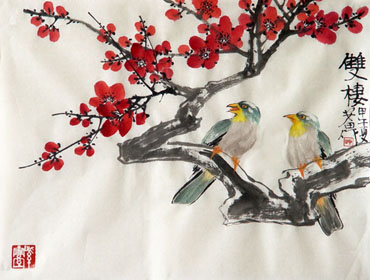 Chinese Plum Blossom Painting,35cm x 45cm,2388137-x