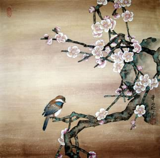 Chinese Plum Blossom Painting,50cm x 50cm,2395002-x