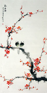 Chinese Plum Blossom Painting,66cm x 130cm,2398003-x